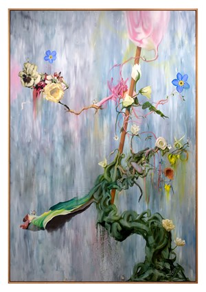 Ikebana - Waterfall Stage (Boss Level) by Keith Tyson contemporary artwork