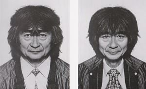 Seiji Ozawa (diptych) by Jiří David contemporary artwork