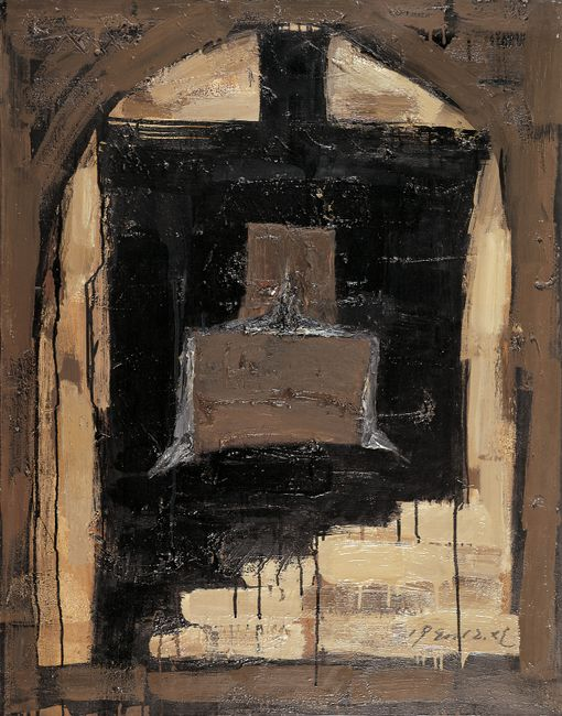 Great Black Bell in an Arch by Mao Xuhui contemporary artwork