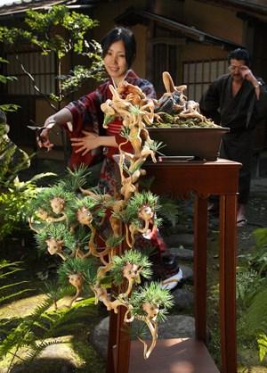 Ai-chan BONSAI (pine) in the garden by Makoto Aida contemporary artwork