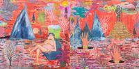 subterranean city (diptych) by Pow Martinez contemporary artwork painting