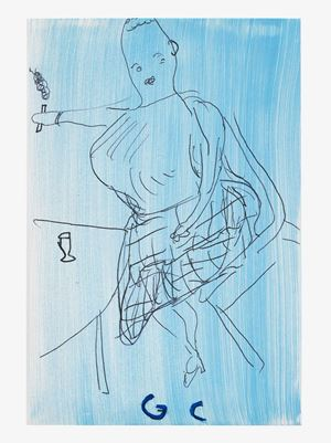 GC 2019 by Rose Wylie contemporary artwork