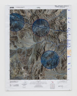 Death Valley Water Map (Anvil Spring Canyon West) by Oscar Tuazon contemporary artwork