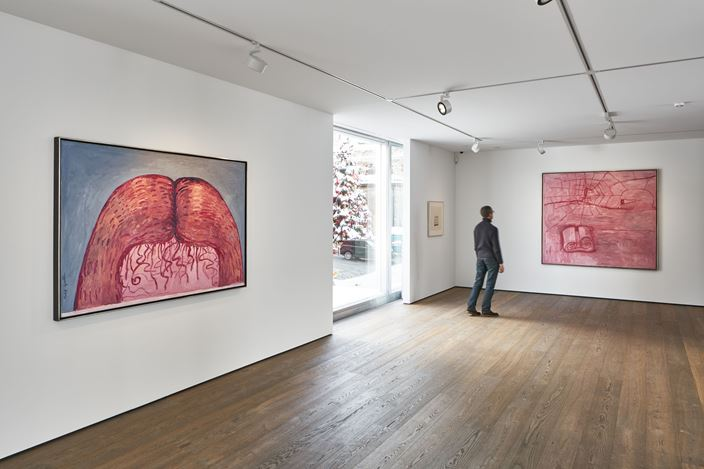 Exhibition view: Philip Guston, Transformation, Hauser & Wirth, St. Moritz (23 December 2020–24 April 2021). © The Estate of Philip Guston. Courtesy the Estate and Hauser & Wirth. Photo: Jon Etter.