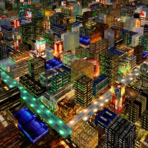 Simmer City by Stephen Haley contemporary artwork