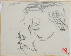 Chinese Woman - First Gestural Drawing Since Childhood by Max Gimblett contemporary artwork