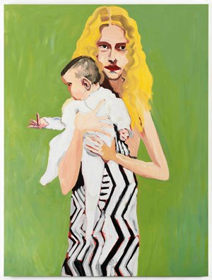 BLONDE WITH A BABY by Chantal Joffe contemporary artwork