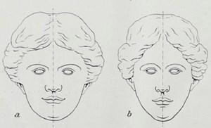 绝对对称的面部却是令人不安并且不正常的 by Wang Changcun contemporary artwork