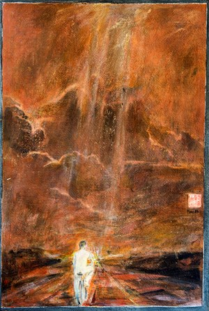 Lone Traveller 獨行天涯 by Gu Fusheng contemporary artwork