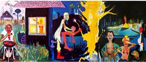 Halbzeit by David Lehmann contemporary artwork