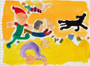Runing Kids by Song Ta contemporary artwork