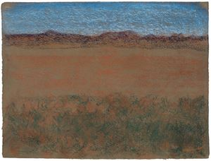 Horizontal Landscape with Blue Mountains by Richard Artschwager contemporary artwork