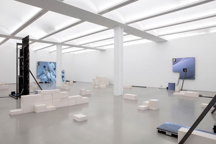 Exhibition view: Jesper Just,Corporalités, Perrotin, New York (14 January–15 February 2020). © Courtesy the artist & Perrotin. Photo: Guillaume Ziccarelli.