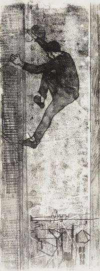 Nightclimber #4 (Cambridge Living) by Hernan Bas contemporary artwork works on paper