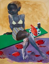 Hunt by Ndidi Emefiele contemporary artwork painting, works on paper