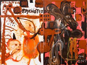 DIE BEFRUCHTUNGSKOMPANIE KUNST! by Jonathan Meese contemporary artwork painting, works on paper, sculpture