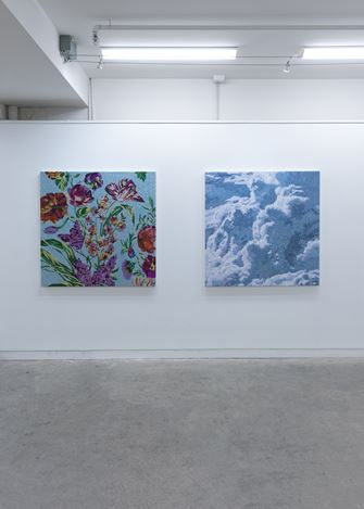 Exhibition view: Reuben Paterson, Land of the Long Stemmed Cloud, Page Blackie Gallery (29 November–21 December 2018). Courtesy Page Blackie Gallery.