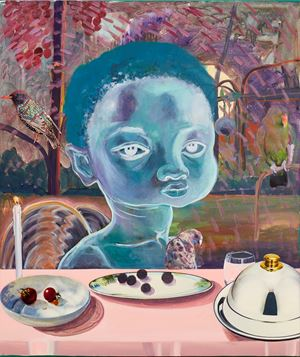 Celestial diners I by Ndidi Emefiele contemporary artwork