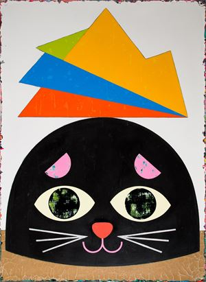 The Black Cat Rises the Mountain One Meter Up by Lai Chiu-Chen contemporary artwork