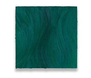 Untitled (Turquoise blue deep / Caribbean blue) by Jason Martin contemporary artwork