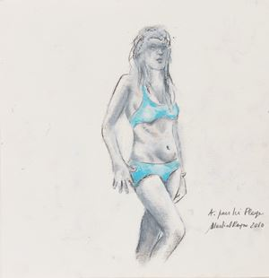 A. pour ici plage by Martial Raysse contemporary artwork