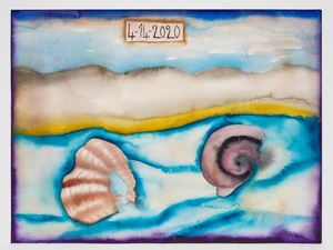 4-14-2020 by Francesco Clemente contemporary artwork