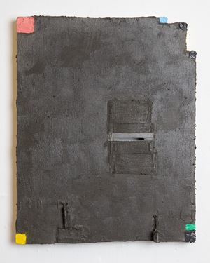 Untitled (gunmetal grey) by Louise Gresswell contemporary artwork