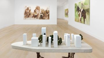 Contemporary art exhibition, Henry Taylor, Disappeared, but a tiger showed up, later at Hauser & Wirth, Southampton, USA