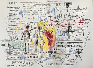 Boxer Rebellion by Jean-Michel Basquiat contemporary artwork