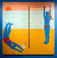 Volleyball by Claudia Kogachi contemporary artwork painting