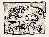 Vibrions (couleur) by Pierre Alechinsky contemporary artwork print