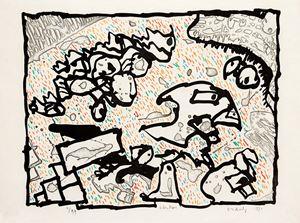 Vibrions (couleur) by Pierre Alechinsky contemporary artwork