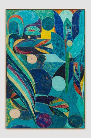 cæcilie as the annunciation by Alexander Tovborg contemporary artwork
