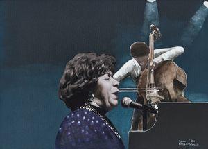 Shirley Horn by Sam Nhlengethwa contemporary artwork