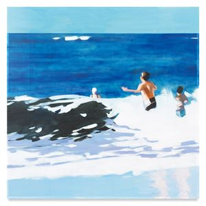 Three Bathers by Isca Greenfield-Sanders contemporary artwork