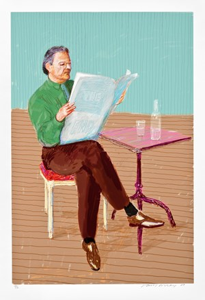 Peter Goulds by David Hockney contemporary artwork