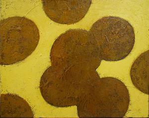 Waterlilies, Gold by Timur D'Vatz contemporary artwork