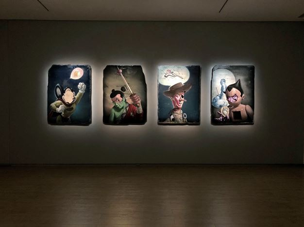 Exhibition view: Kuo Wei-Kuo, The Alchemy of Icon: The Occult Technique of Kuo Wei-Kuo's Paintings 圖像煉金術:郭維國的繪畫秘儀, Lin & Lin Gallery, Taipei (19 October–23 November 2019). CourtesyLin & Lin Gallery.