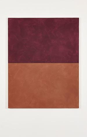 Red over Orange Ochre by Peter Joseph contemporary artwork