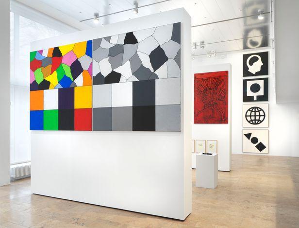 Exhibition view: Matt Mullican, Five Walls, Capitain Petzel (28 April–19 June 2021). © the artist. Courtesy Capitain Petzel, Berlin. Photo: Jens Ziehe.