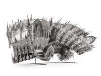 Twisted Dumptruck (CCW) by Wim Delvoye contemporary artwork sculpture