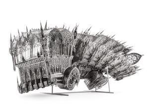 Twisted Dumptruck (CCW) by Wim Delvoye contemporary artwork