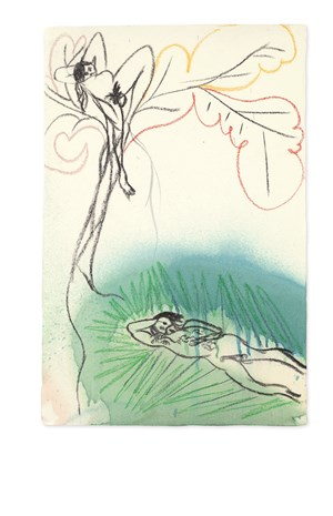 Study for Ovid-Windfall by Chris Ofili contemporary artwork