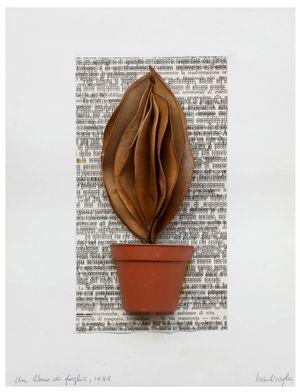 A Book of Leaves by Mirella Bentivoglio contemporary artwork