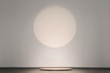 Germaine Kruip,Under Circle Cooper, 2016, lamps, metal ellipses, 121.7 x 35 x 0.4 cm (reflection on wall 150x150cm).
