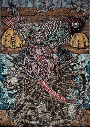 The Gravity of  Thousand Ideas by Shafiq Nordin contemporary artwork