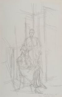 Alice et John Rewald by Alberto Giacometti contemporary artwork painting, works on paper, drawing