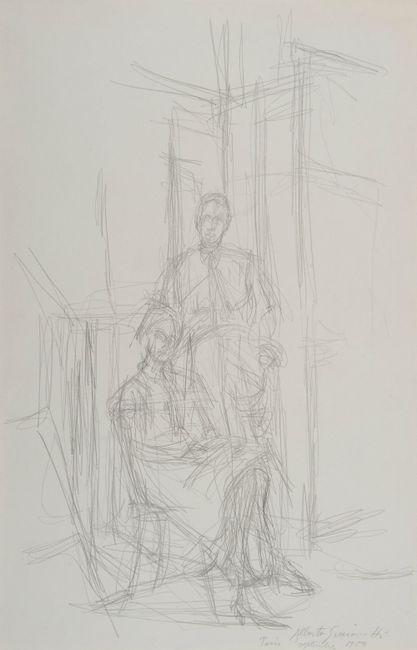 Alice et John Rewald by Alberto Giacometti contemporary artwork