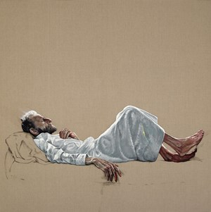 Lucian Freud by Zeng Fanzhi contemporary artwork