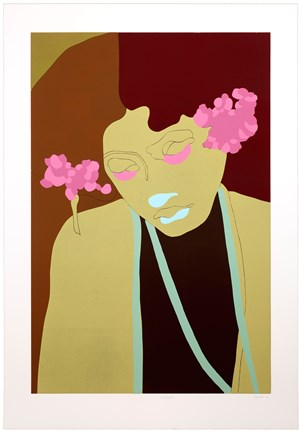 Magda from Six Linocuts by Gary Hume contemporary artwork